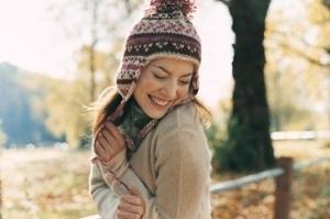 Dofna gelukkig persoon